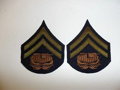 b0727p 1930's-WW2 US Army unofficial Tank Corps Corporal pair R1D