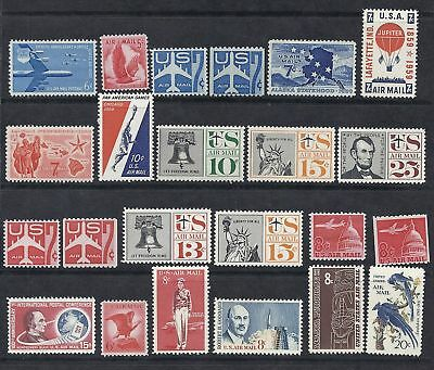 US Airmail/Airpost 1957-1967 MNH Mint NH Collection Lot Set of 23 w/ Coils*