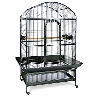 Medium Dometop Parrot Cage - Black Color Cage