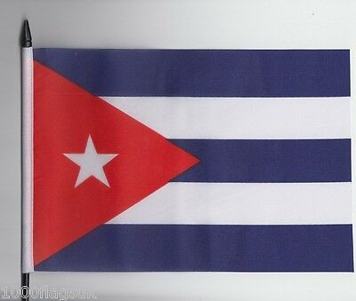 Cuba Medium Hand Waving Flag