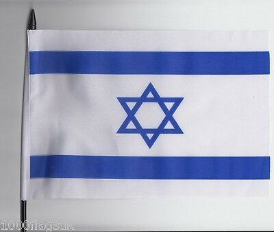 Israel Medium Hand Waving Flag