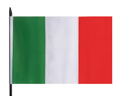 Italy Medium Hand Waving Flag