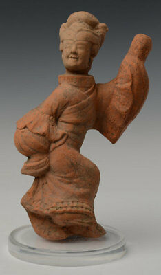 Han Dynasty, Antique Chinese Pottery Figure of Dancer
