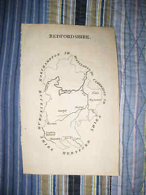 Antique 1775 Bedfordshire Bedford Dunstable Wooburn England Copperplate Map Nr