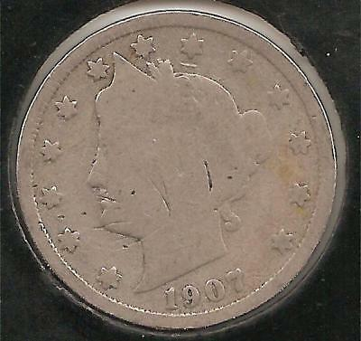 1907 GOOD Liberty Nickel #1 (scratches)