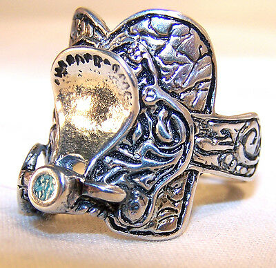 HORSE SADDLE WESTERN RING BR111R HEAVY silver NEW novelty fashion JEWELRY item