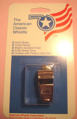 AMERICAN CLASSIC  WHISTLE  (MODEL 300)   With  NECK LANYARD -  NEW