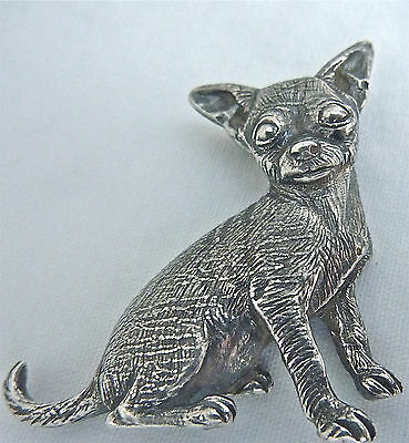 Chihuahua Smooth Coat Sterling Silver Puppy Dog Designer Necklace .925 Custom