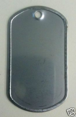 100 Military GI Dog Tags Rolled edge 304 Stainless Steel Army Airforce Marines