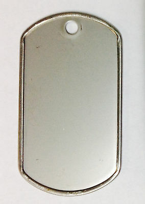 100Military GI Dog Tags Rolled edge 304 Stainless Steel