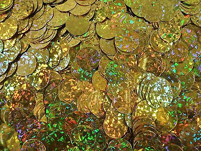 Sequin Flat Discs 14mm. Laser Gold 20g Dancing Costumes Stage FREE POSTAGE
