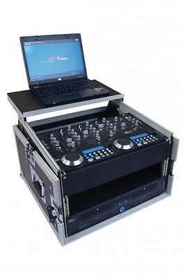 "6/8 He 19"" Winkelrack Case Notebook Laptop Ablage Rack Flightcase Dj Mixer"