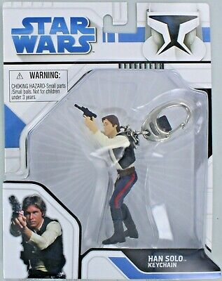 Star Wars HAN SOLO Keychain Keyring Jedi Force S3 Universe Lucas Retired NEW