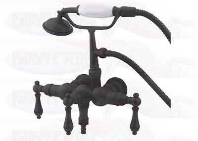 Kingston Brass Wall Mount ClawFoot Tub Faucet & Hand Shower - Oil Rubbed Bronze