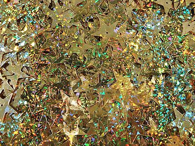 Sequins Stars 18mm. Laser Gold 20g Christmas Scrapbooking  FREE POSTAGE