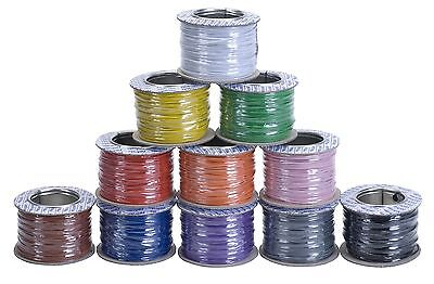 RAPID 1/0.6 Equipment Wire Single Core Cable (100m reel) - 11 Colour Options