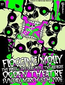 Flogging Molly - Poster - Limited - Kuhn - Briggs