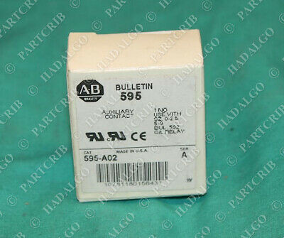 Allen Bradley 595-A02 Auxiliary Contact 1 N.O. NO Normally Open NEW