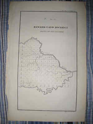 Antique 1830 Cole County Jefferson City Missouri Territory Map Howard Land Nr