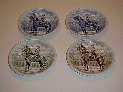 Wood Sons Royal Canadian Mounted Police Coaster Plates