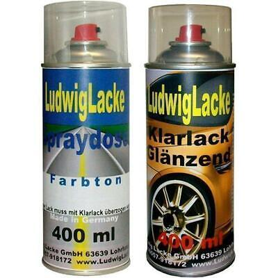 2 Spray im Set 1 Autolack 1 Klarlack 400ml TOYOTA Dark Grey Pearl Met. 1C6