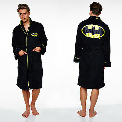 Batman dressing gown FLEECE / bathrobe -Adult size NEW (bath robe gifts for men)