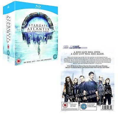 STARGATE SG-A ATLANTIS 1-5 (2004-2009): COMPLETE TV Series Seasons - NEW BLU-RAY