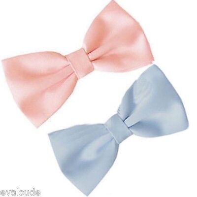 BOYS Baby Pink or Blue PreTied Bow Tie Pre Tied Adjustable Dickie Wedding Prom