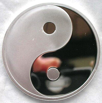 """Mongolia 2007 Empire """"Ying&Yang"""" 100 Tugrik Silver Plated Coin,Proof"""