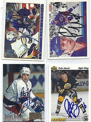 Peter Douris Signed / Autographed Hockey Card Boston Bruins 1991 UD