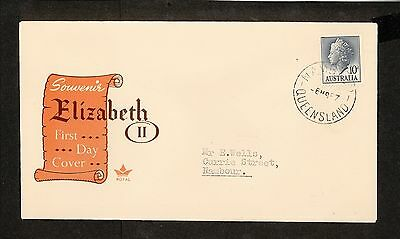 FDC 1957   10d BLUE QUEEN ELIZABETH I I FDC ADDRESSED Nambour (3947.63)