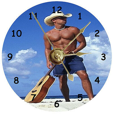 NEW Kenny Chesney On Beach With Guitar CD Clock