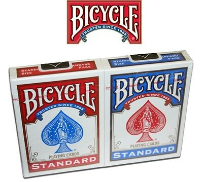 2 New Decks of Bicycle Playing Cards Poker Size, 1x Red, 1x Blue