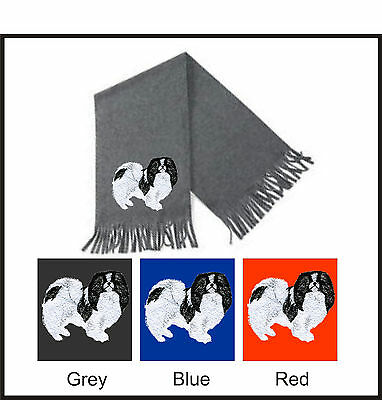 Japanese Chin Scarf Perfect Gift Embroidered by Dogmania