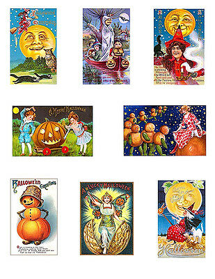 Vintage Halloween Postcards Cotton Quilt Blocks FrEE ShiPPinG WoRld WiDE