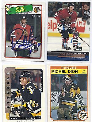 Michel Dion Signed / Autographed Hockey Card Pittsburgh Penguins 1982 OPC