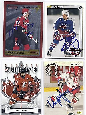 Drew Doughty Signed / Autographed Hockey Card Canada Jr's 2007 ITG