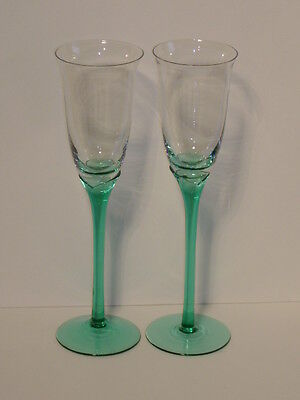 LIBBEY GLASS DOMAINE JUNIPER PAIR CHAMPAGNE FLUTES 9 5/8""