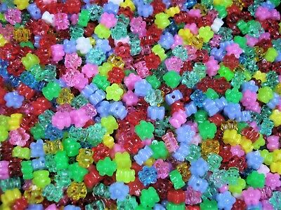 Crystal Glass 6mm Bicone Beads 100pc Mix Spacer Filler Jewellery FREE POSTAGE