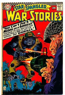 STAR SPANGLED WAR STORIES #126 VG No Dinosaurs, Big Gorilla, Monkey DC 1966