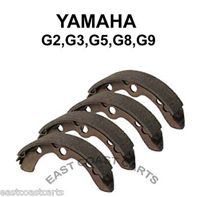 Yamaha G1,G2,G8,G9 Golf Cart Rear Brake Shoe (set of 4) 1982'-1992' J55-W2536