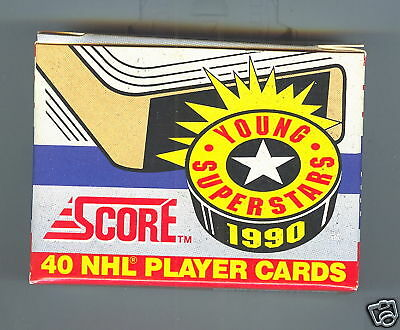 1990-91 SCORE YOUNG SUPERSTARS FACTORY SET ... Eric Lindros, CUJO, Federov,Sakic