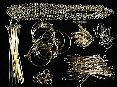 Findings Combo Pack Gold Jump Rings, Pins, Earring Hooks, Wire FREE POSTAGE