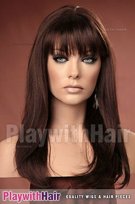 Long Straight Beehived Style Wig - COLOUR CHOICES!