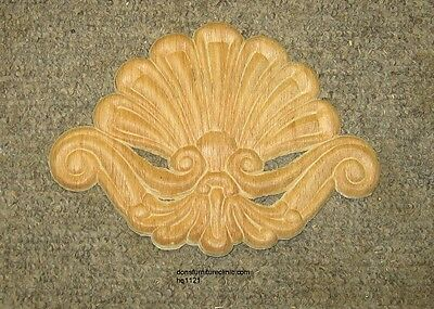 "Wood Embossed Applique Carving  6 1/2 ""  X  5""   Hq1121"
