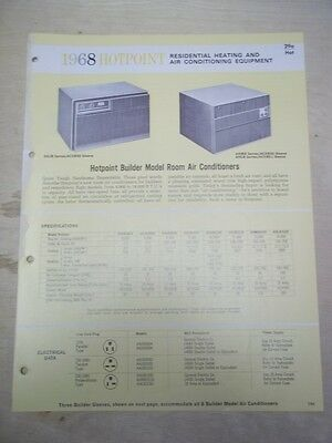 Vtg GE Hotpoint General Electric Brochure~Air Conditioning&Heating~Catalog