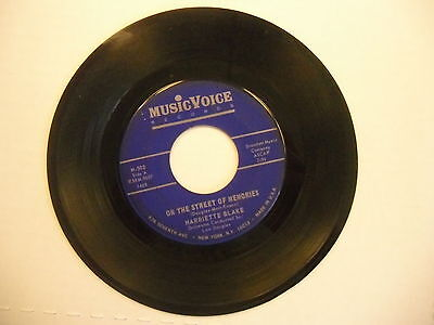 Harriette Blake Give Me This Night/On The Street Of Memories 45 RPM Music Voice