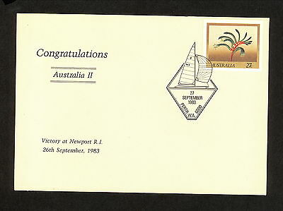 1983 APM13990.3 AMERICAS CUP Pictorial Postmark (2983.50) Sailing