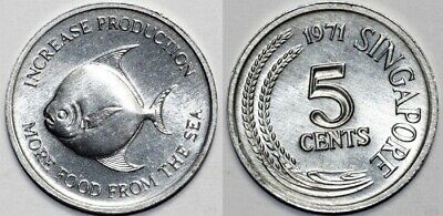 Singapore 1971 5 Cents Uncirculated (KM8)