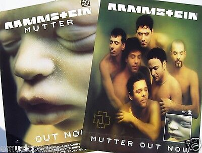 "RAMMSTEIN ""MUTTER-GROUP SHOT & COVER ARTWORK"" AUSTRALIAN PROMO POSTER-Metal Rock"